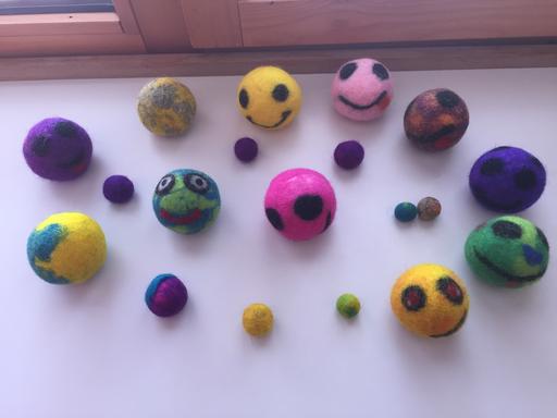Smily-Ball filzen
