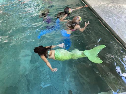 Meerjungfrauschwimmen